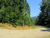 Macadam mountain road 1. Macadam mountain road for down Stock Image
