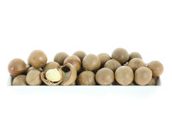 Macadamia in  bowl Royalty Free Stock Photography