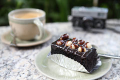 Macadamia brownie Royalty Free Stock Image