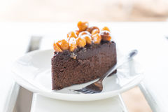 Macadamia chocolate cake Stock Photo