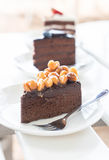 Macadamia chocolate cake Royalty Free Stock Photography