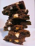 Macadamia Czekoladowego Fudge punkty Zdjęcie Stock