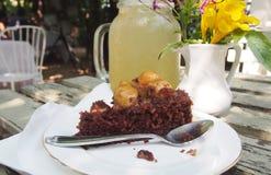 Macadamia nut with chocolate cake Royalty Free Stock Image