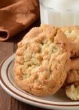 Macadamia nut cookies closeup Stock Image