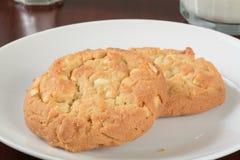 Macadamia nut cookies Royalty Free Stock Image