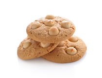 Macadamia nut cookies Royalty Free Stock Image