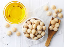 Macadamia nut oil Royalty Free Stock Image