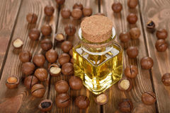 Macadamia nut oil Stock Photography