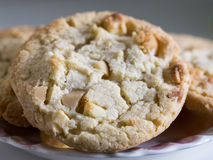 Macadamia nut and white chocolate cookies. A small stack of macadamia nut and white chocolate cookies Stock Images