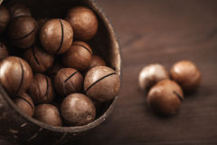 Macadamia nuts Royalty Free Stock Photos