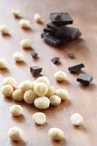Macadamia Nuts and Chocolate Pieces Royalty Free Stock Photo
