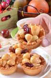 Macadamia nuts tart Stock Images