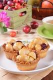 Macadamia nuts tart Stock Image