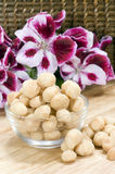 Macadamia Nuts - vertical Stock Photo