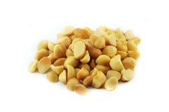 Macadamia Nuts. On white background Royalty Free Stock Image