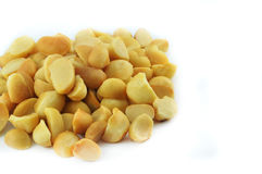 Macadamia Nuts. On white background Stock Photography