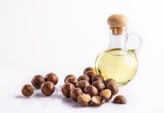 Macadamia oils Royalty Free Stock Photos
