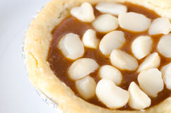 Macadamia tart Stock Photo