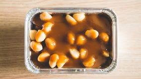 Macadamia toffy cake. Stock Images