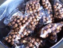 Macadamia vruchten Royalty-vrije Stock Foto's