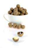 Macadamia  on white Stock Photos