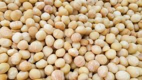 Macadamianüsse für Verkauf am Stadtmarkt Stockbilder
