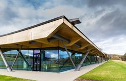 Macallan Distillery. CRAIGELLACHIE, SCOTLAND - 4 NOVEMBER 2018: Macallan Distillery and visitor centre, in the recently opened modern facility designed by stock images