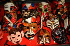 Venice masks. This is  Macana,  one of Venice's oldest and best known  handmade masks shops. The masks are so beautiful that they were chosen by  Stanley Stock Photo