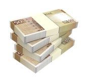 Macanese pataca bills  on white background. Stock Photo