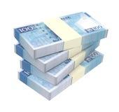 Macanese pataca bills  on white background. Royalty Free Stock Photos