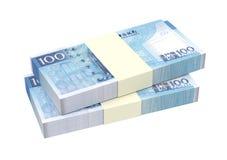 Macanese pataca bills  on white background. Stock Images