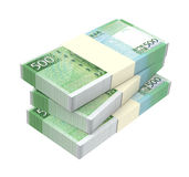 Macanese pataca bills  on white background. Royalty Free Stock Image