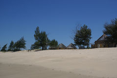 Macaneta strand Mocambique Royaltyfri Foto