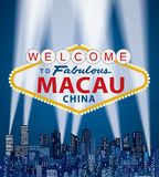 Macao agradable ilustración del vector