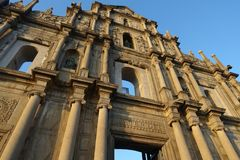 Macao arruina de San Pablo fotografía de archivo