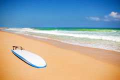 Macao beach in Caribbean sea. A paradise for surfers Stock Photography