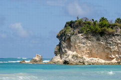 Macao beach cliff. Picture of a cliff from Macao beach in Dominican Republic Stock Photo