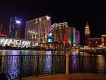 Macao bij nacht Royalty-vrije Stock Fotografie
