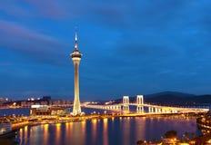 Macao bij nacht Royalty-vrije Stock Afbeeldingen