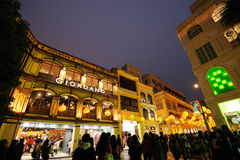Macao bij nacht Stock Fotografie