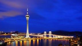 Macao bij nacht Royalty-vrije Stock Foto