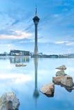Macao bij zonsondergang royalty-vrije stock foto's