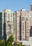 Macao bostads- höjdpunkt - täthet Arkivbild