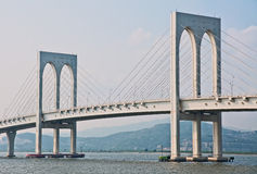 Macao bridge Stock Image