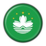 Macao button flag ROUND shape Stock Photography