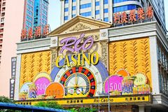 Macao Casino Building, Macau, China Royalty Free Stock Photo