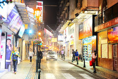 Macao center street Stock Photo