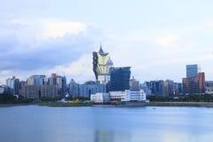 MACAO CHINA - AUGUST22-landscape y escena del edificio del ci de Macao Fotos de archivo libres de regalías