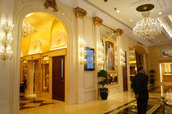 Macao, China: casino lobby Stock Photography