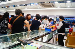 Macao, China: duty free shops Royalty Free Stock Images